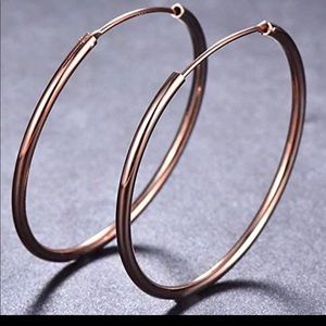 Jewelry - 🆕18k rose gold endless hoops